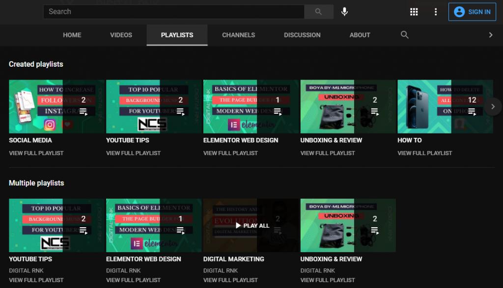 create playlists